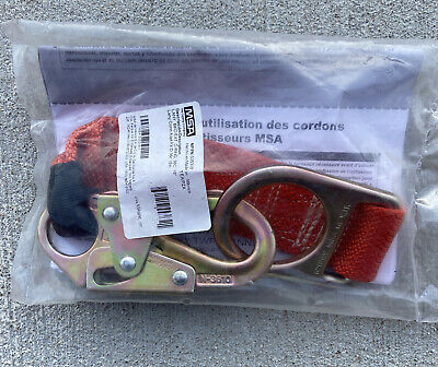 Msa 2x18 Lanyard Restraint Msa 505318 Safety Carabiner Rodmans Hook D-ring