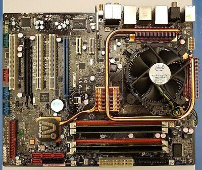 Scheda madre ASUS 775 CPU Intel 4 Quad Core P5Q P5B P5K3 Deluxe Turbo Gigabyte