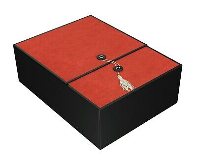 Red Envelope Gift - Large Gift Boxes Red Karma 12x9x4 w/ Tassel, Card, Envelope & Tissue Paper