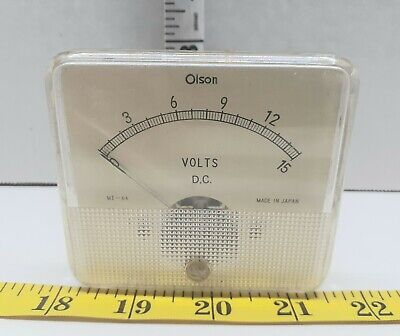 Vintage Olson Dc Me-64 Volts Dc Meter Tested
