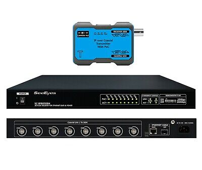 SeeEyes SC-IPC0708H 8CH  EoC transmission device with built-in Switch HUB