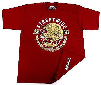 STREETWISE Aguila T-shirt Gold Eagle Snake Emblem Tee Mens Adult   (Emblem Adult T-shirt)