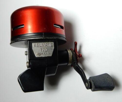 nice VTG RED ABU MATIC GARCIA SWEDEN 170 FISHING spincast  REEL
