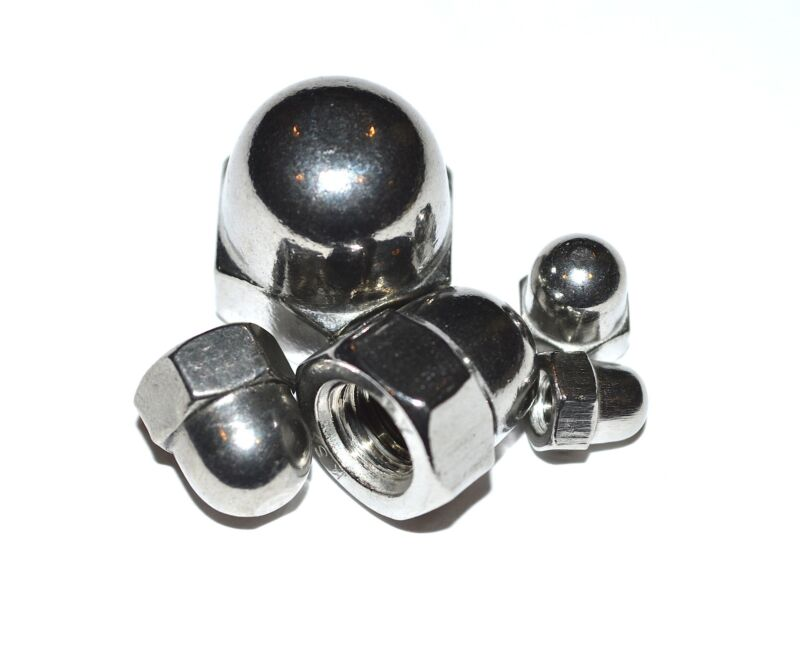 Metric Stainless Acorn Nut  M8 1.25P A4 Better Then A2  Pkg Of 10