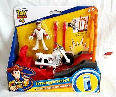 Toy Story 4 Stuntman Playset Imaginext Duke Caboom Figure stunt set Ramp Cycle