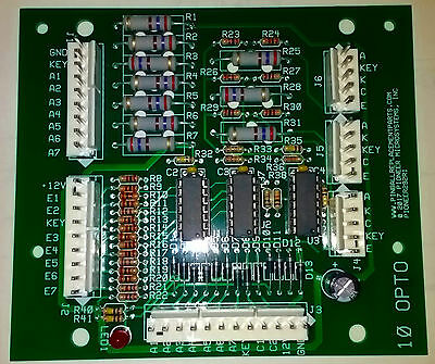 Pinball 10 opto board replaces Williams A-15430 and similar