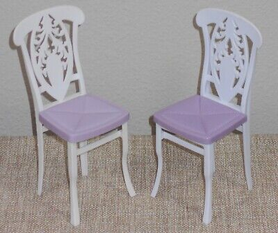 Barbie Replacement Doll Chairs_My House_Furniture_White & Purple_2007