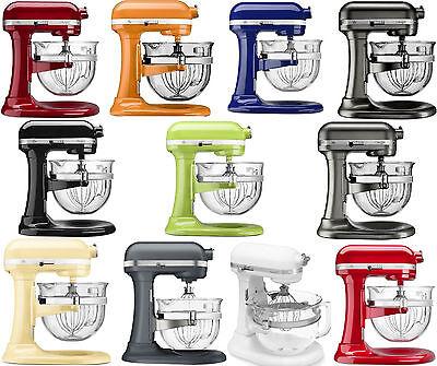 Glass Mixer Bowl (New KitchenAid Stand Mixer KF26M2X 6-Qt Pro 600 With Glass Bowl 11 Colors )