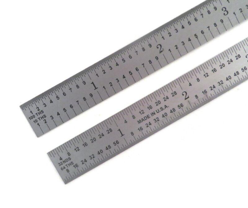 "Blem Cosmetic Second PEC 6"" Flexible Satin 5R 10/100/32/64ths machinist ruler"