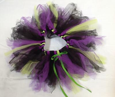 Etsy Witch Halloween dance tulle costume tutu skirt black green purple 7 8 9 10