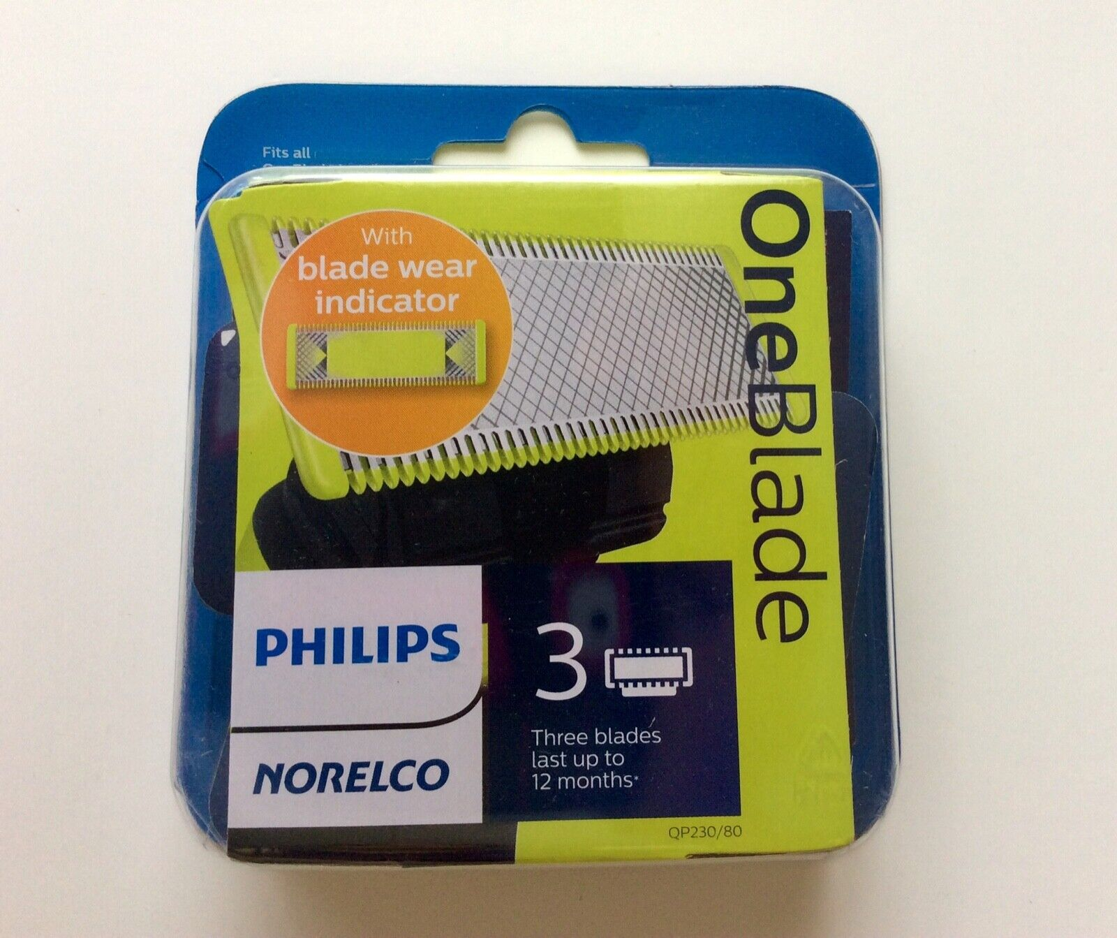 Philips Norelco OneBlade Replacement Blades 3 Pack - QP230/8