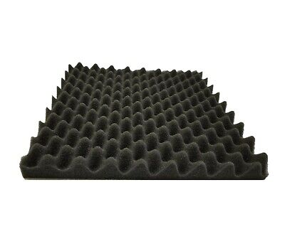 "9 pack Acoustic Soundproofing Egg Crate Foam Tiles 1.5"" x 12 x 12 (charcoal)"