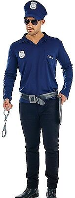 Mens Instant Copper Police Stripper Stag Do Night Fancy Dress Costume Outfit Kit](Cop Outfit For Men)