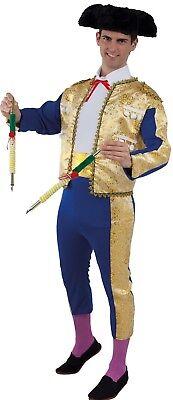 Costume Man TORERO Luxe blue golden XL Adult Matador Spanish NEW - Torero Costume