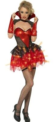 Costumes That Light Up (FEVER ALL THAT GLITTERS LIGHT UP VAMP GLOSS HALLOWEEN FANCY DRESS - EXTRA SMALL)