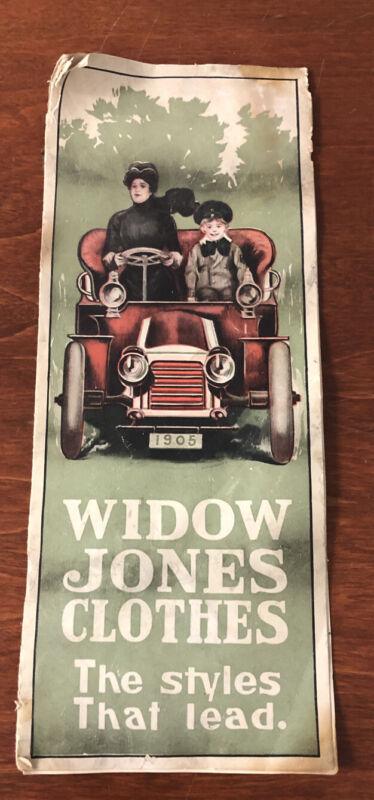 1904 ANTIQUE Boston,Massachusetts Widow Jones Clothes Pricing Booklet Catalogue