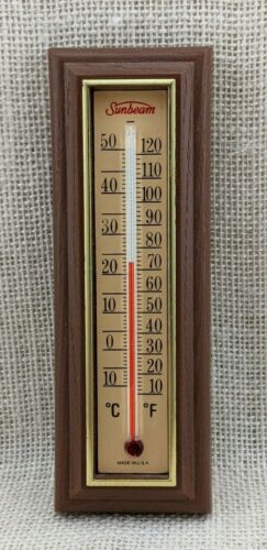 """Vintage Plastic Sunbeam 6 1/4"""" Thermometer by Springfield Instrument Company"""