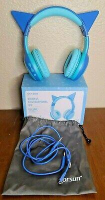 Gorsun Wireless Kids Headphones With Mic 85Db Volume Regulator, Wireless Cat Ear