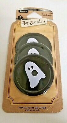Canning Jar Decorative Lids  Jewelry Jar Vintologie 3 Lids HALLOWEEN GHOSTS