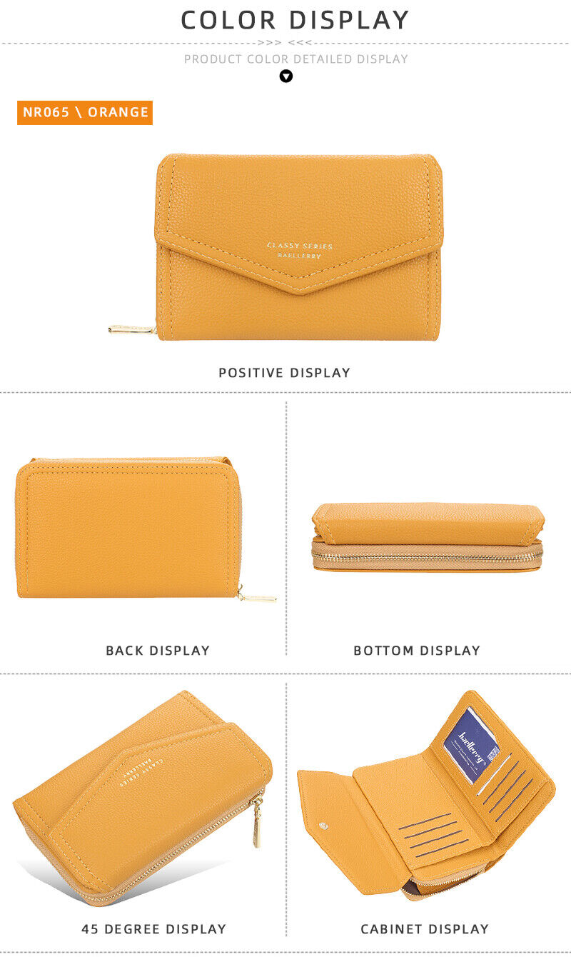 Long Leather Wallet for Women Credit Card Holder Zipper Coin Purse Handbag US Clothing, Shoes & Accessories