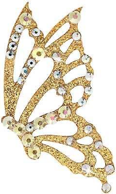 Freedom 3 Gold-Kristall Körperschmuck Swarovksi Crystal Weiss AB Schmetterling