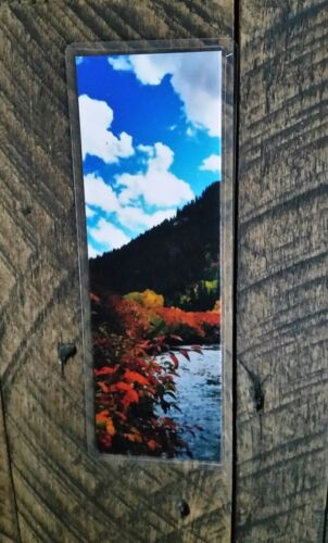 Rocky Mountains Utah Picture Marker Fall Stream Color Bookmark Autumn Blue Skies