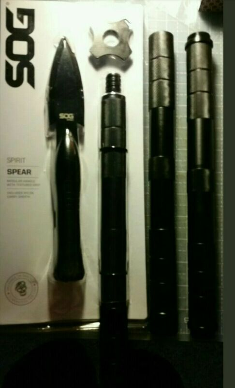 """Sog Spirit Collapsible Spear 36"""" extention handle Textured grip stainless steel"""