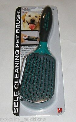 K57 SNAP N CLEAN SELF CLEANING LARGE DOG GROOMING PET HAIR BRUSH