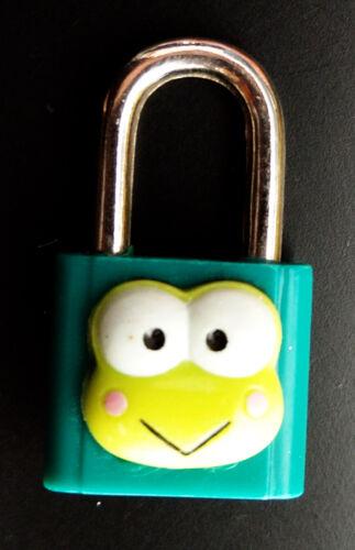 RARE Official Sanrio Keroppi Japan Lock Frog Keychain Charm Pendant Vintage