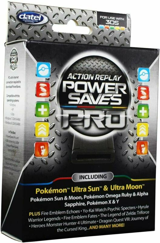 Datel Action Replay Power Saves PRO New Nintendo 3DS 2DS XL Saves Cheats Codes