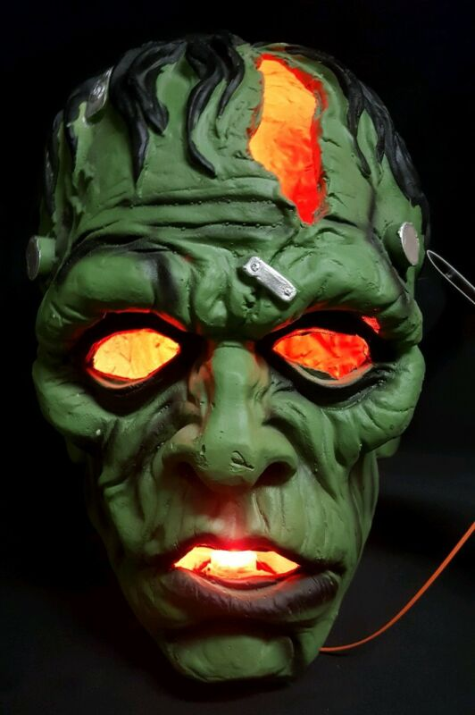 Frankenstein Giant Light Up Head Decoration NEW Classic Horror Movie Monster