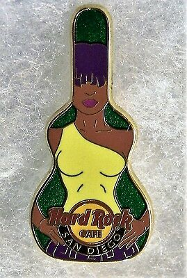 HARD ROCK CAFE SAN DIEGO BIRTHDAY FLOWER MORNING GLORY SEXY GIRL GUITAR # 67867