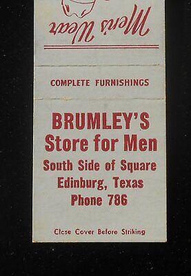 1940s Men's Shirts, Sweaters, Vests 1940s Brumley's Store for Men Stetson Hats Arrow Shirts Phone 786 Edinburg TX MB $5.32 AT vintagedancer.com