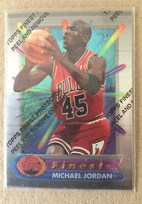 1994-1995 Michael Jordan Topps Finest Card W/ Coating Peel #45 Jersey #331 Mint