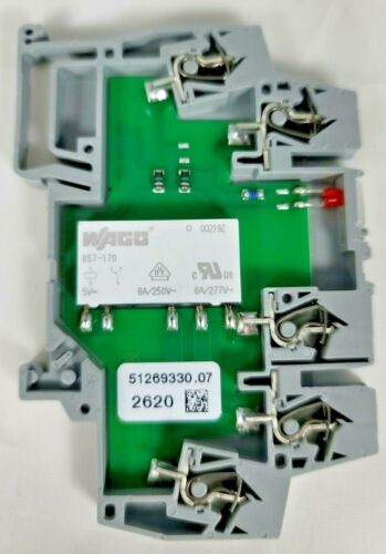 WAGO Power Relay, SPDT, 5 VDC, 5 A, 859 Series, DIN Rail, DC ~ 859-302