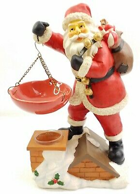 Yankee Candle Santa On Roof Hanging Tart Warmer Burner Christmas Holiday
