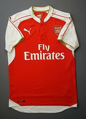 4.9 5 Arsenal shirt MEDIUM 2015 2016 home jersey soccer football Puma 63abfbe48a3a1
