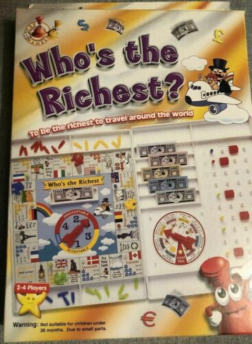 Who%27s+The+Richest+Travel+Board+Game+Family+Games+Kids+NEW%2FSEALED