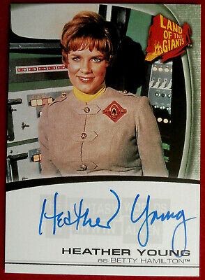 LAND OF THE GIANTS - HEATHER YOUNG - Personally Signed Autograph Card A2 - 2004