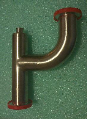 Mks Vacuum Drain Trap Kf40 - Tee 90 Deg Elbow 14 Fnpt 304 Stainless Steel