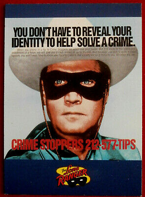 THE LONE RANGER - Card #65 - Dart 1997 - CRIME STOPPERS