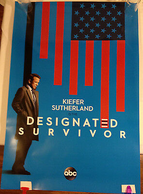 Designated Survivor Promo Poster Abc Tv 27 X 40 Kiefer Sutherland Excellent