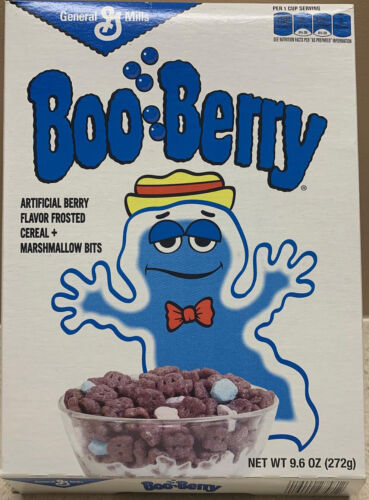 Boo Berry Empty Cereal Box