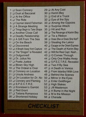 JAMES BOND - Card #110 - CHECKLIST - James Bond 007 Series 1 - Eclipse 1993