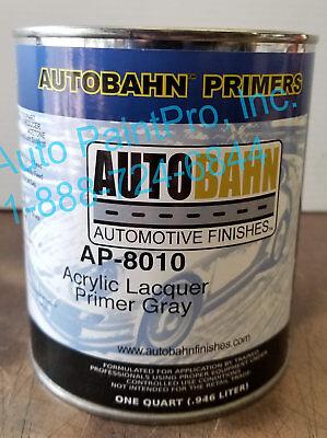 - AP- 8010 AUTOBAHN ACRYLIC LACQUER PRIMER GRAY RESTORATION CAR PAINT SUPPLIES