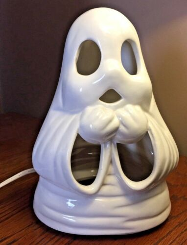 "Halloween GHOST ceramic Light Up Figure 8""H ... home decoration"