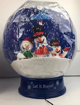 Gemmy Let It Snow Tabletop Airblown Inflatable 11 Song Musical Snow Globe W/ Box - Music Inflatables