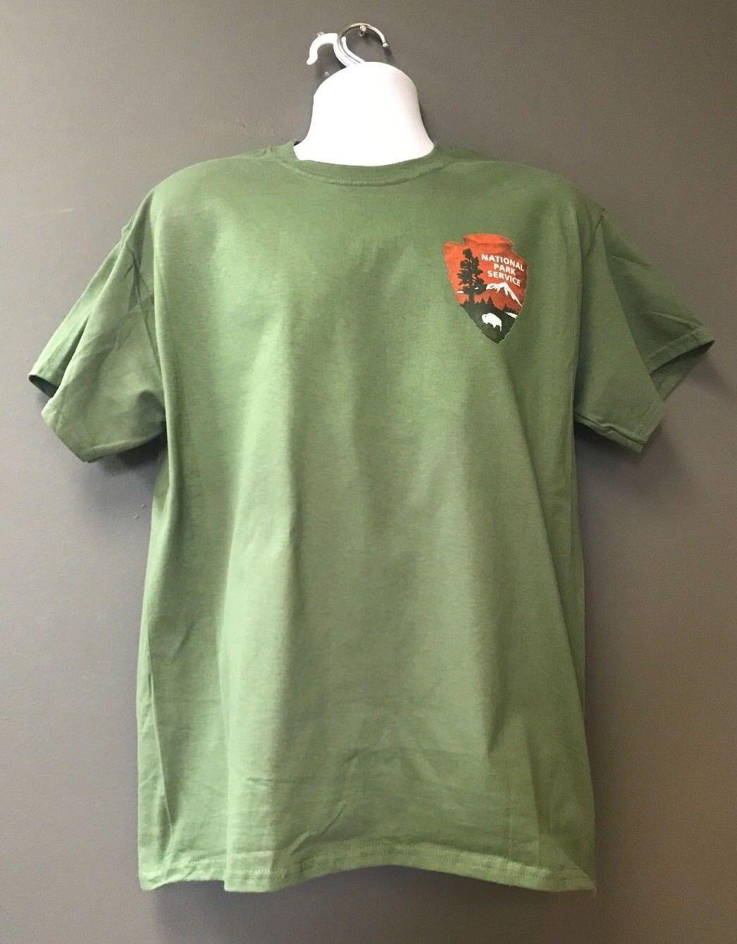 DOI Dept of Interior NPS National Park Service OD Green Short Slv Morale T-Shirt
