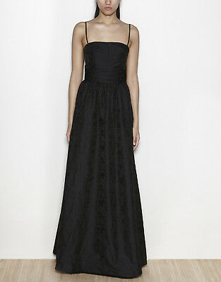 HOSS INTROPIA Brocaded Bandeau Maxi Dress Gown in Black Size EUR 34 / US 0 - 2