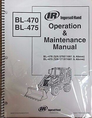 Bobcat Bl470 Bl475 Backhoe Operation Maintenance Manual Owners 6901973